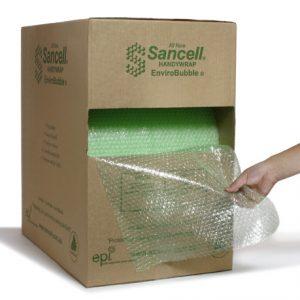 Sancell ENVIRO Bubble Handy Wrap 375mm x 75m Perf 400mm In a Handy Dispenser Box