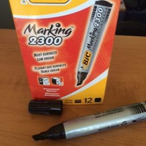 BIC 2300 Black Chizel Point Markers