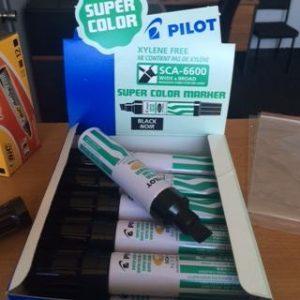 PILOT JUMBO Black Chizel Point Markers